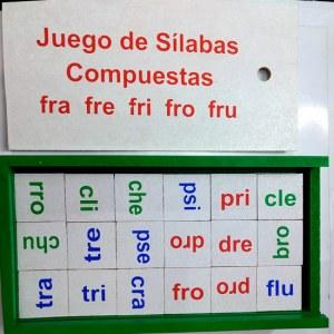 Juego de Silabas compuestas